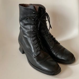 Vintage 90s Guess Granny Lace-up Boots, Size 8.5